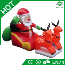 2015 Brand new hot sale inflatable christmas decoration,outdoor christmas santa claus and tree,wholesale chritmas decor