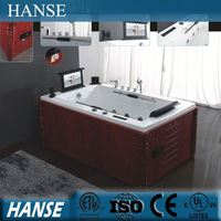 HS-B298 free standing wooden frame sexy massage 1 person hot tub
