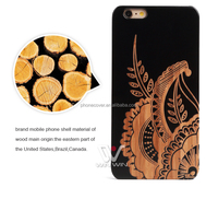High Quality Standard Laser Engraving Hard Wood PC Phone Back Cover Case for iPhone 5,for iPhone 6,for iPhone 6plus