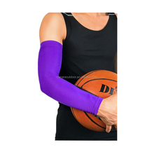 Purple Lycra Spandex Sports Baseball Golf Football Cycling Arm Compression Sleeve with SGS TUV Test