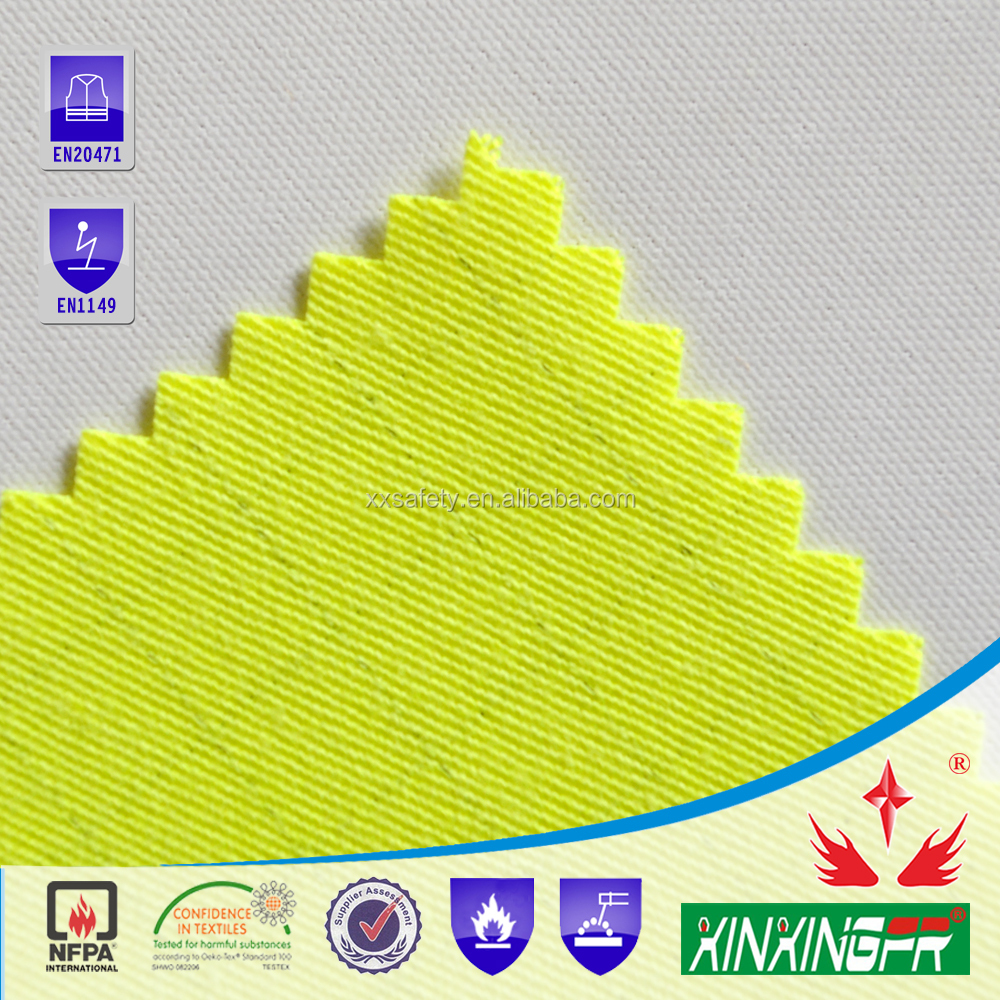 pass EN11611 aramid inherent fire resistant fabric for coverall