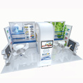 Detian Offer 20 by 20 booth display simple design booth trade fair booth