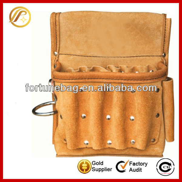 High quality electrician leather tool bag pouch