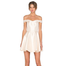 Top quality ladies white slim girls party dresses cotton dress