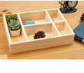Creative real wood Chalk holder receive a cartoon dormitory key box platform receive box wood desktop contracted creative sundry