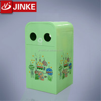 Customized Decorative Metal Handmade Recycling Dustbin For Sale