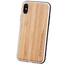 2018 Luxury Bamboo Wood Custom Logo Phone Cover Case For Iphone X
