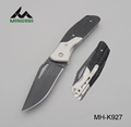 Folding camping knife in stainless steel with G10 handle
