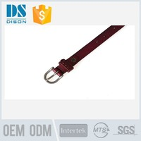 Top brand custom red leather karate belts with hollow designs for girls