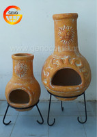 European style hot sell clay chiminea for home used