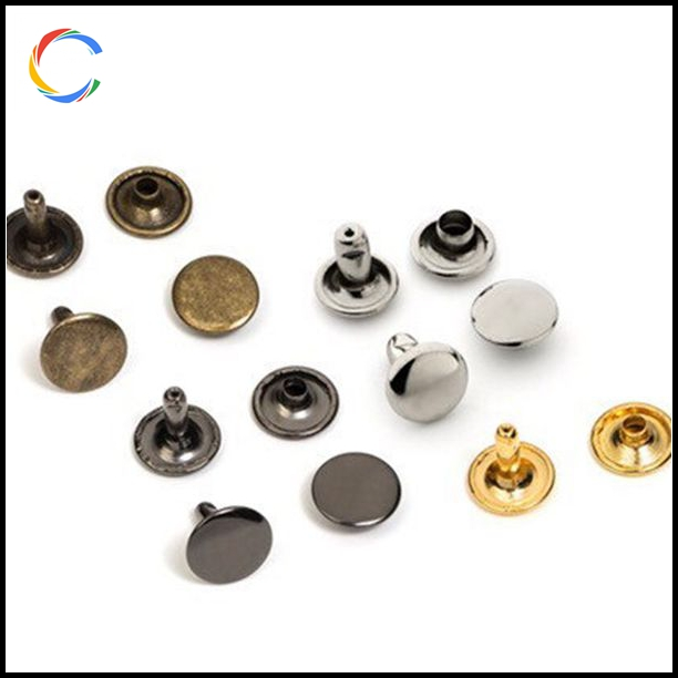 Double Cap Rivets Round Rivet Fasteners for Leather Craft