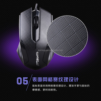 Middle size ergonomic design wired mouse