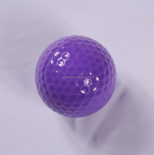Custom colorful large plastic two layer golf ball with golf box