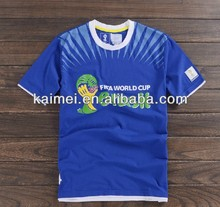 Professional customized design 2014 brazil world cup soccer jersey t shirt for men women