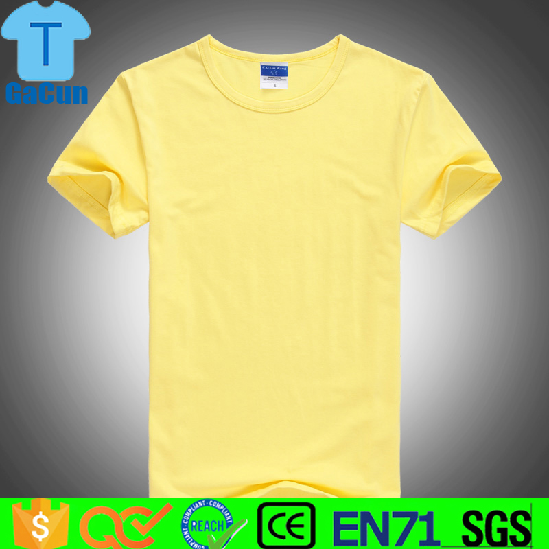 Custom high quality blank men plain print 100% cotton Tee shirts