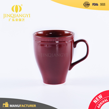 Hot sale High Quality ceramic red espresso cup christmas