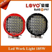 9 inch Black 185 w round LED Work Light ,LED Spotlight On Offroad Trucks, Atv, 4WD, Boat, 4x4
