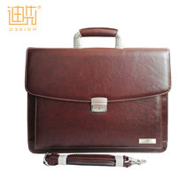 PU leather briefcase document bag with compartments