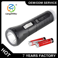 custom high power rechargeable led flashlight with opener , hot sales protable led torch flashlight