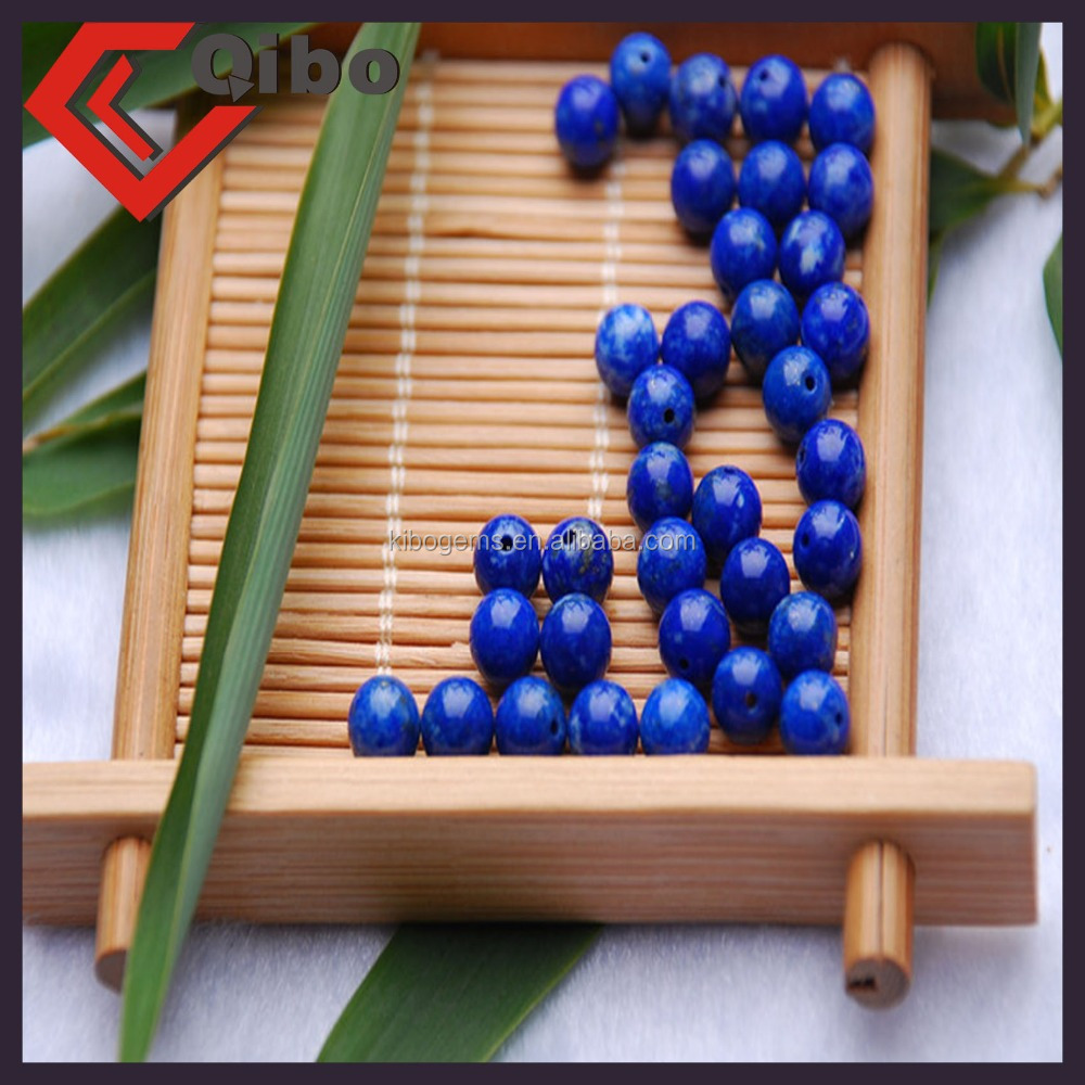A grade natural polish Lapis Lazuli round gemstone beads