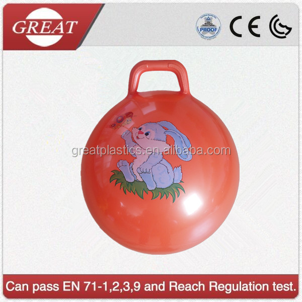 inflatable jumping handle ball toy for child