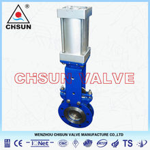 QB Dezurik Bunker WCB Flange Type Metal Sealed PN10 Knife Gate Valve