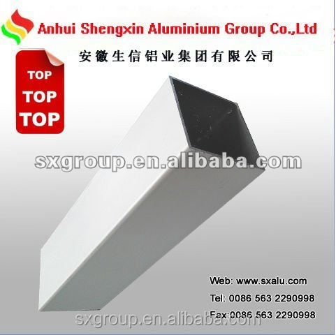 Aluminium extrusion square pipe aluminum square tube