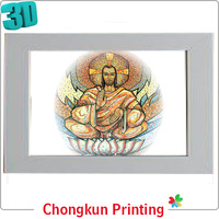 3D lenticular printing indian 3d pictures of jesus for gift
