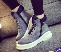 2016 new design ladies fashion casual shoes wholesale footwear lace up platform wedge shoes women