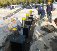 Security Hydraulic system automatic rising bollards for road control