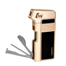 high quality metal style luxury butane fuel refill gas pipe lighter gift box
