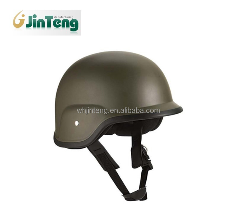 Olive Deluxe Kids Military Style ABS Plastic Helmet