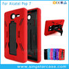 2 in 1 Robot Soft Rubber Hard Kickstand Hybrid Phone Case For Alcatel One Touch 7