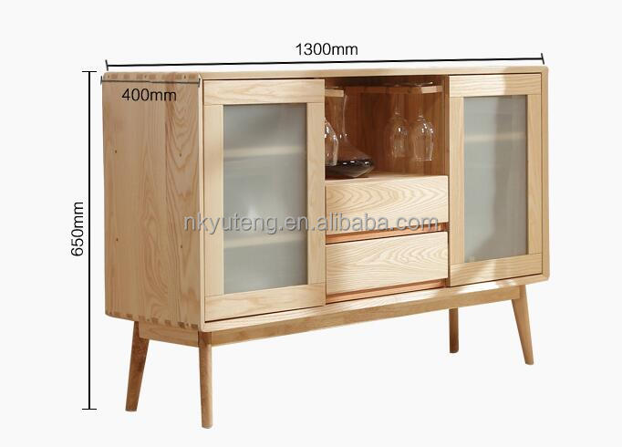 Modern elements pure solid wood kitchen cabinet cupboard sideboard