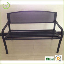 KD steel pipe and cast iron park bench with mesh back