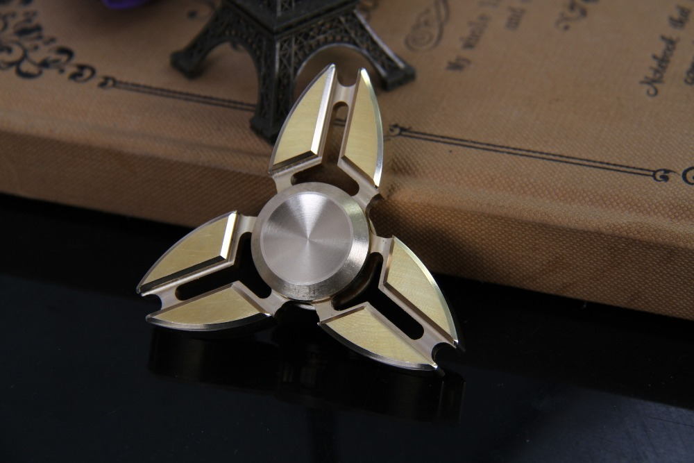 Tri-spinner Triangle Crab Metal Alloy Spinner Toy Hand Finger Spinner Spiner Beyblade Rotating Top Fidget Toy