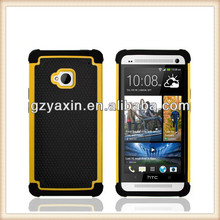 For htc one m7 double dip flip stand case,for HTC One cover case,new products for 2014