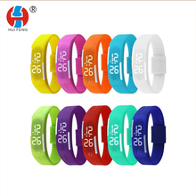 OEM Custom Cheap Price Colorful Fashion Silicone Rubber LED Digital Sport Wrist Watch