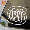 Fashion car sticker design for car window and windshield