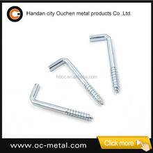 21X80mm L (Square) Wood Screw Hook With Galvanization
