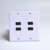 High quality 4 Port HDMI 2.0 Keystone Wall Plate White for home theater