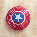 Good quality Various metal Finger Fidget Spinner Captain America In stock Release Stress Hot sale