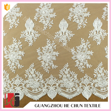 Hot sale Fancy design beautiful french lace fabric online