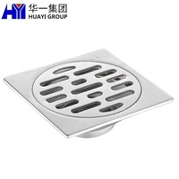 High quality stainless steel home decoration component metal stamping floor drain with custom service
