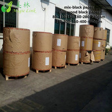 230g 2.7mm black paper board from for Indonesia gloss one side coated paper coated Exports to Brazil