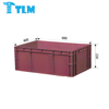 600x400x230mm Cheap Prices Durable Food Grade Storage Virgin PP Blue EU Turnover box for Warehouse