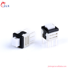 Hot salling 6 pin white flat head push button switch