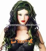 Hotsell crazy devil wigs, cheap Halloween color party wigs