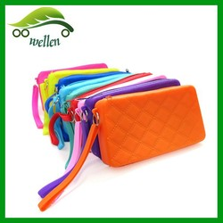 Rubber wallet silicone purse bags jelly silicone accessories wholesale from China
