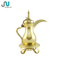 32oz golden stainless steel arabic coffee dallah with candle holder